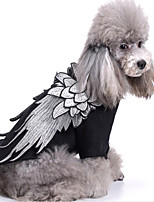 cheap -Dog Cat Costume Dog Clothes Puppy Outfits Black Costume Pet Dog Clothes Wings Pet Disguise for Girl and Boy Dog Padded Fabric L