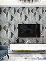 cheap -Wallpaper Wall Covering Sticker Film Peel And Stick Embossed Stripe Irregular Striped Deerskin Velvet Non Woven HomeDeco 53*950CM