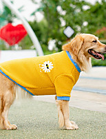 cheap -autumn and winter new small daisy big dog warm fleece golden retriever medium and large dog two-legged sweater spring and autumn pet clothes