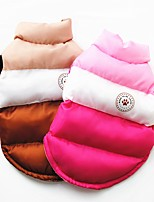 cheap -Dog Puffer / Down Jacket Stripes Classic Style Festival Winter Dog Clothes Puppy Clothes Dog Outfits Warm Blue Pink Brown Costume for Girl and Boy Dog Polyester Cotton S M L XL XXL