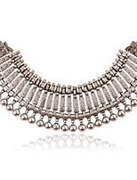 cheap -Choker Necklace Statement Necklace Women's Layered Mini Unique Design Vintage European Wedding Silver Gold 50 cm Necklace Jewelry 1pc for Halloween Carnival Prom Semicircle