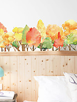 cheap -Autumn Forest Plants Wall Stickers Bedroom Removable Pre-pasted PVC Home Decoration Wall Decal 90*30cm