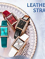 cheap -Shengke New Luxury Crystal Women Watches Colorful Comfortable Leather High Quality With Japanese Movement Gift For Mother's Days