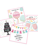 cheap -greeting card cute cartoon children birthday party poster greeting card invitation card total blessing card with envelope