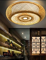 cheap -Flush Mount Ceiling Light LED Circle Design Nature Inspired / Nordic Style For Dining Room / Shops / Cafes Wood / Bamboo 220-240V