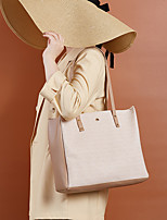 cheap -Women's Bags PU Leather Tote Top Handle Bag Vintage Daily Date Handbags Blushing Pink Khaki White