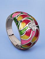 cheap -Women Ring AAA Cubic Zirconia Fancy Rainbow Brass Floral Theme Flower Artistic Elegant Vintage 1pc / Women's