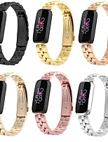 cheap -Smart Watch Band for Fitbit 1 pcs Classic Buckle Stainless Steel Replacement  Wrist Strap for Fitbit Luxe