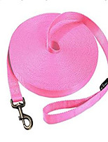 cheap -Dog Pets Leash Portable Solid Colored Nylon Blue Pink 1pc