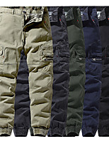 cheap -Men's Work Pants Tactical Cargo Pants Hiking Pants Trousers Outdoor Thermal Warm Windproof Breathable Lightweight Bottoms Blue Grey khaki Black Army Green Fishing Climbing Running 29 30 32 34 36