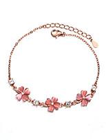 cheap -Women's Bracelet Classic Clover Cute S925 Sterling Silver Bracelet Jewelry Rose Gold / Pink For Wedding