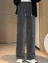 cheap -Women's Chino Athletic Comfort Chinos Leisure Sports Weekend Pants Plain Full Length Pocket Leg Drawstring Elastic Drawstring Design Gray White Black Beige