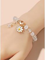 cheap -Women's Bead Bracelet Geometrical Flower Boho Alloy Bracelet Jewelry White yellow For Party Street Prom Festival