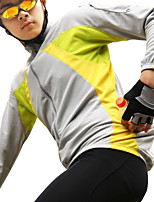 cheap -Men's Cycling Jacket Winter Bike Top Quick Dry Moisture Wicking Sports Patchwork Yellow / Red / Blue Clothing Apparel Bike Wear / Long Sleeve / Micro-elastic / Athleisure