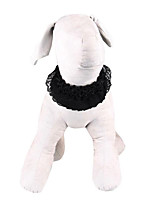 cheap -Dog Cat Pets Collar Cute and Cuddly Polyester Small Dog Black Beige 1pc