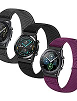 cheap -nylon elastic loop band compatible with galaxy watch3 45mm/galaxy 46mm, gear s3 frontier/classic,22mm stretchy sport replacement quick release strap