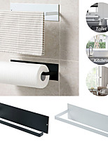 cheap -Stainless Steel Paper Towel Holder Rack Toilet Kitchen Roll Paper Holder Self-adhesive Kitchen Toliet Accessories Bathroom Towel Holder