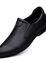 cheap -Men's Loafers & Slip-Ons Business Casual British Daily Office & Career Nappa Leather Black Brown Fall Spring
