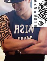 cheap -1 Pc Waterproof Temporary Tattoo Sticker Cool Totem Wing Man Fake Tatto Flash Tatoo Back Leg Abdomen Arm Tatouage For Girl Women Men