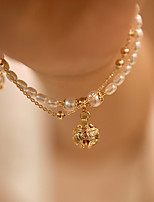 cheap -Women's Bead Bracelet Double Layered Bell Korean Alloy Bracelet Jewelry Gold For Wedding