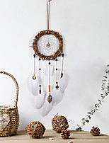 cheap -Indian compound rattan circle feather hanging dream catcher maid's room decoration home hanging dream catcher