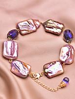 cheap -Women's Bracelet Geometrical Grape Baroque Pearl Bracelet Jewelry Purple For Wedding