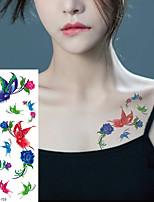 cheap -5 PCS Women's  Temporary Tattoo Sticker Waterproof Body Decals Fake Tatoo Art Taty Butterfly Pattern Tattoo Sticker