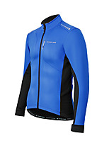 cheap -Men's Cycling Jacket Winter Bike Top Quick Dry Moisture Wicking Sports Patchwork Blue Clothing Apparel Bike Wear / Long Sleeve / Micro-elastic / Athleisure