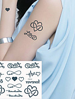 cheap -5 Pcs Temporary English Tattoo Stickers Black Letters Feather Body Art Tattoos Sticker Waterproof For Temporary Tattoos