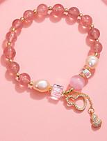 cheap -Women's Bead Bracelet Beads Strawberry Korean Alloy Bracelet Jewelry Pink For Wedding