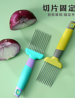 cheap -onion cutting aid stainless steel kitchen vegetable cutting artifact loose meat needle fixed slicer hand guard lemon slicer