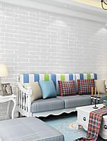 cheap -Wallpaper Wall Covering Sticker Film Faux Brick White Non Woven Home Decor 53*1000cm