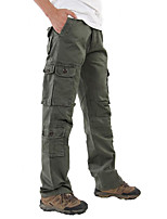 cheap -Men's Work Pants Hiking Cargo Pants Tactical Pants Solid Color Winter Outdoor Loose Thermal Warm Windproof Lightweight Breathable Cotton Pants / Trousers Bottoms Army Green Camouflage Khaki Black