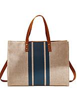 cheap -Women's Bags Polyester Linen Crossbody Bag Top Handle Bag Geometric Daily Date Handbags Blue Black