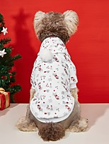 cheap -Dog Cat Hoodie Hooded Shirts Dog clothes Reindeer Elk Ordinary Casual / Sporty Christmas Casual / Daily Winter Dog Clothes Puppy Clothes Dog Outfits Warm White Costume for Girl and Boy Dog Polyester