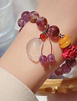 cheap -Women's Bead Bracelet Classic Grape Classic Alloy Bracelet Jewelry Purple For Wedding