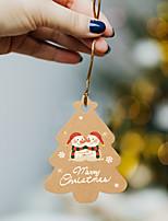 cheap -kraft paper christmas tree decoration tag small pendant christmas gift decoration santa claus amazon supply