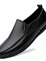 cheap -Men's Loafers & Slip-Ons Casual British Daily Office & Career Cowhide Black Brown Fall Spring