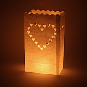 Big Heart Shaped Cut-out Paper Luminary (Set of 4)