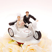 Driving To The Church Wedding Cake Topper