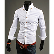 Pure Color High Collar Shirt