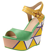 Leatherette Women's Wedge Heel Sling Back Sandals Shoes (More Colors)