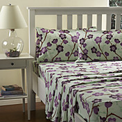 Sheet Set,4-Piece Purple Flower