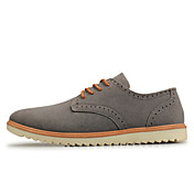 QZBW Men's English Style Fashion Gray Pu Boat Shoes