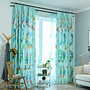 Contemporary Blackout One Panel Curtain L...