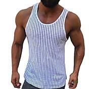 Men's EU / US Size Slim Tank Top - Stripe...