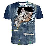 Men's T-Shirt Plus Size Slim T-shirt - 3D...