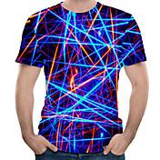 Herrn 3D Übergrössen T-shirt, Rundhalsaus...