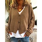 Damen Solide Langarm Strickjacke Pullover...