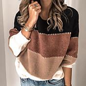 Damen Gestreift Langarm Pullover Pullover...